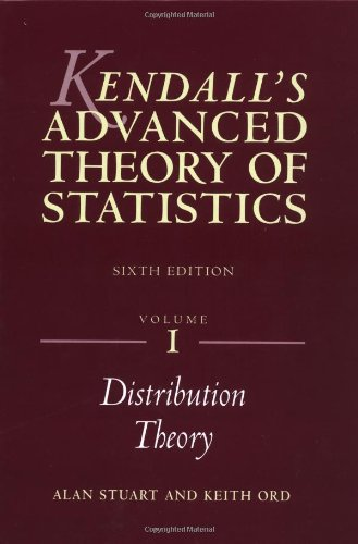 9780340614303: Kendall's Advanced Theory of Statistics: Distribution Theory v. 1