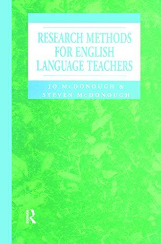 9780340614723: Research Methods for English Language Teachers (Hodder Arnold Publication)