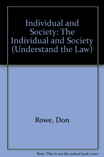 9780340620540: Individual and Society: The Individual and Society (Understand the Law)