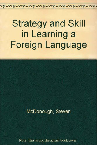 9780340625323: Strategy and Skill in Learning a Foreign Language
