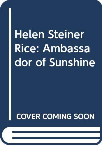 9780340630426: Helen Steiner Rice: Ambassador of Sunshine