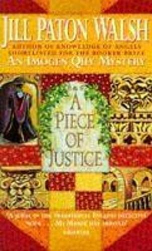 9780340637951: A Piece of Justice: Imogen Quy Book 2 (An Imogen Quy Mystery)
