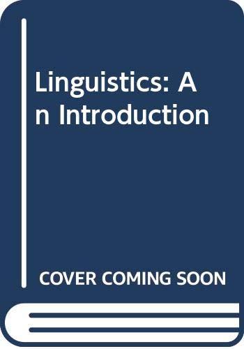 9780340643976: Linguistics: An Introduction