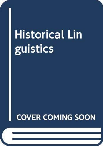 9780340662953: Historical Linguistics