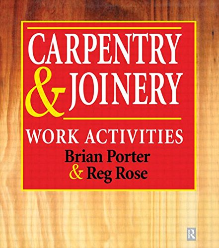 9780340692417: Carpentry and Joinery: Work Activities