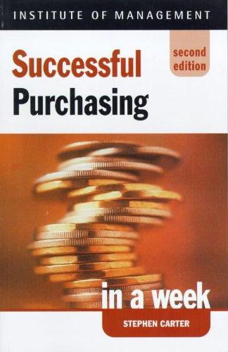 9780340712061: Successful Purchasing in a Week (Successful Business in a Week)