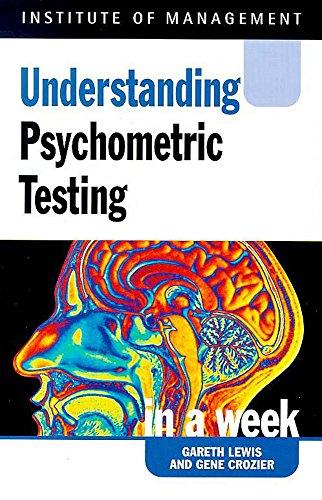 Psychometric Testing in a Week (Successful Business: Lewis, Gareth, Crozier,