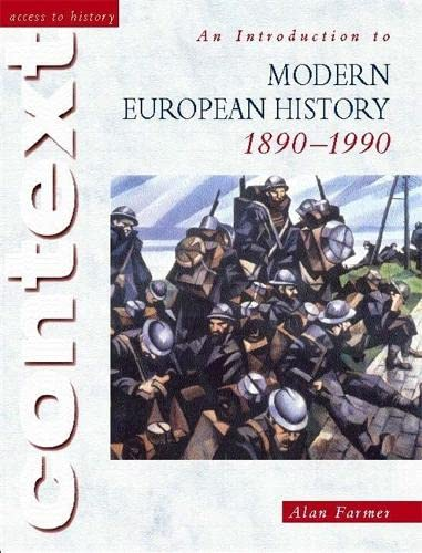 9780340753668: An Introduction to Modern European History, 1890-1990 (Access to History Context)