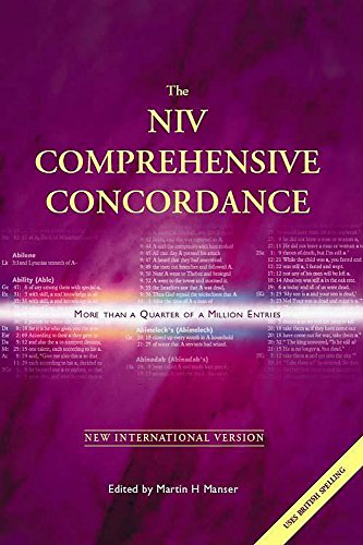 9780340757079: The NIV comprehensive concordance / c [International Bible Society ; edited by Martin H. Manser]