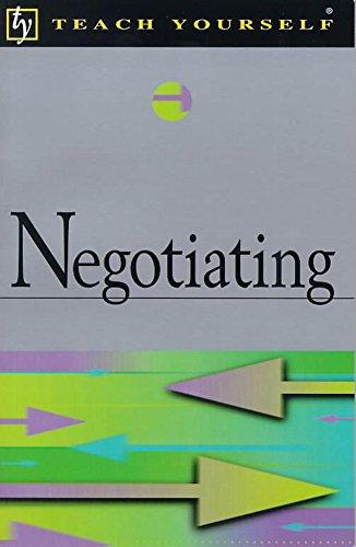 9780340771723: Negotiating (Teach Yourself)