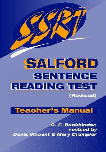 9780340775967: Salford Sentence Reading Test: Teacher's Manual