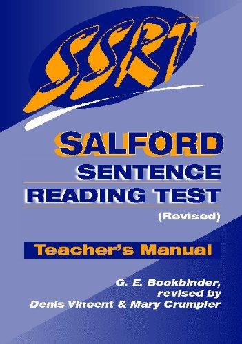 9780340775974: Salford Sentence Reading Test: Specimen Set