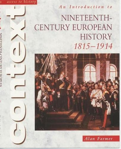 9780340781135: Access to History Context: An Introduction to 19th-Century European History