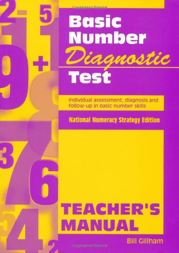 9780340801147: Basic Number Diagnostic Test Manual: Teacher's Manual: Individual Assessment, Diagnosis and Follow-Up in Basic Number Skills