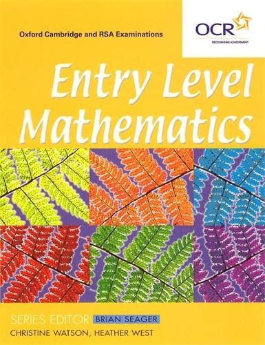 Entry Level Mathematics (0340801638) by Christine Watson; Heather West