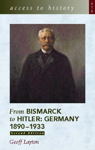 9780340802052: From Bismarck to Hitler: Germany, 1890-1933 (Access to History)