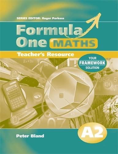 9780340803073: Formula One Maths Teacher's Resource A2