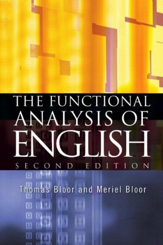 9780340806807: The Functional Analysis of English: A Hallidayan Approach (Arnold Publication)