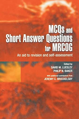 MCQs & Short Answer Questions for MRCOG: Luesley, D M