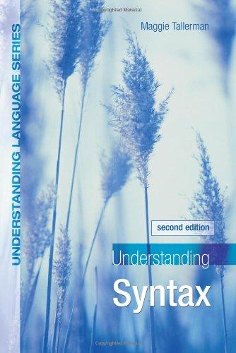 9780340810323: Understanding Syntax 2nd Edition (Understanding Language)