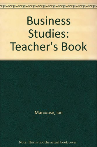 9780340811139: Business Studies: Teacher's Book