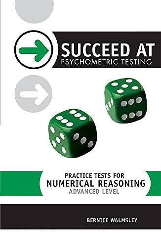 9780340812334: Practice Tests for Numerical Reasoning: Advanced Level
