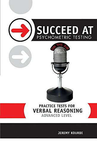 9780340812358: Practice Tests for Verbal Reasoning: Advanced Level (Succeed at Psychometric Testing)