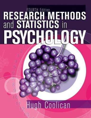 9780340812587: Research Methods & Statistics in Psychology 4th Edition