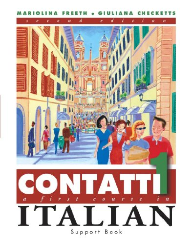 9780340847459: Contatti 1: A First Course in Italian Complete Pack: Student Book, Support Book, 2 audio cassettes (Arnold Publication)