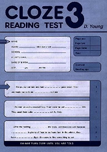 9780340847916: Cloze Reading Test: Pack of 10 Test 3 (Cloze Reading Tests)