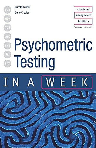 Psychometric Testing in a Week: Gareth Lewis, Dr