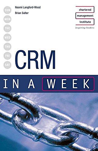 9780340857663: CRM in a week (IAW)
