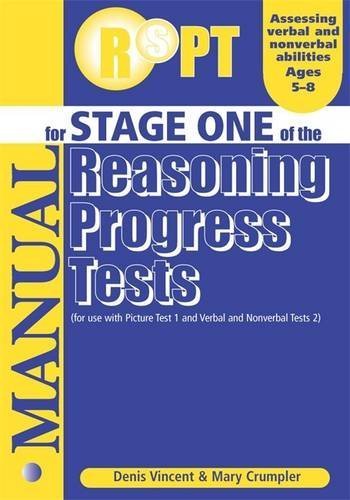 Reasoning Progress Tests: Manual Stage 1 (0340858834) by Crumpler, Mary; Vincent, Denis