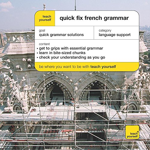 9780340860199: Teach Yourself Quick Fix French Grammar (French Edition)