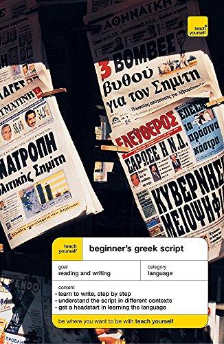 9780340860212: Teach Yourself Beginner's Greek Script (Teach Yourself Languages)
