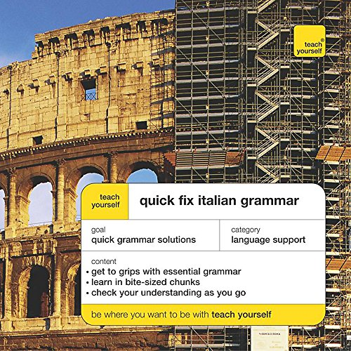 9780340860236: Teach Yourself Quick Fix Italian Grammar