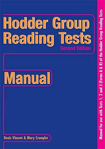 9780340912706: Hodder Group Reading Tests (HGRT) II: 1-3 Manual (Bks. 1-3)