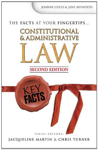 9780340925928: Key Facts: Constitutional and Administrative Law Second Edition