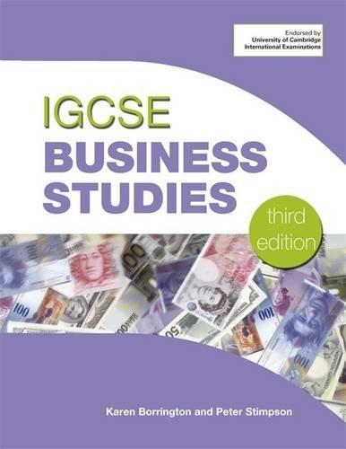 IGCSE Business Studies: Karen Borrington, Peter