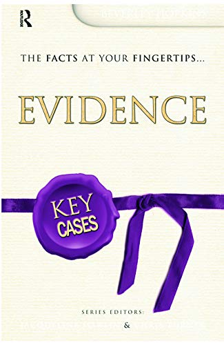 9780340926789: Key Cases: Evidence