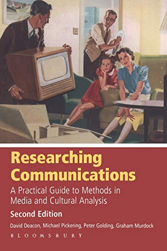 9780340926994: Researching Communications: A Practical Guide to Methods in Media and Cultural Analysis