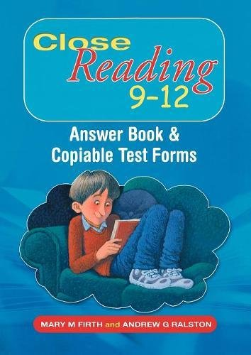9780340927076: Close Reading 9-12: Answer Book and Copiable Test Forms