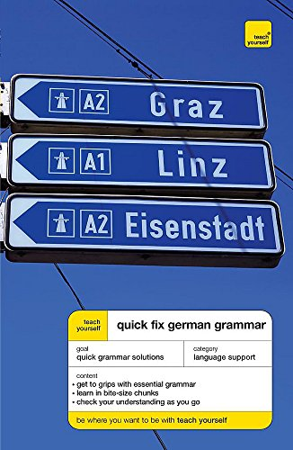 9780340928363: Teach Yourself Quick Fix German Grammar (Teach Yourself Quick Fix Grammar)