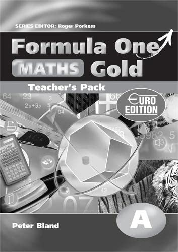 Formula One Maths Euro Edition Gold Teacher s Pack A
