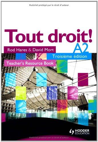 9780340929834: Tout Droit! A2: Teacher's Resource Book