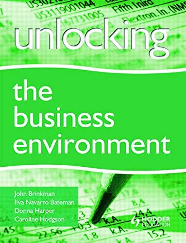 9780340942079: Unlocking the Business Environment