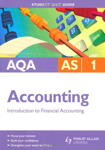 AQA AS Accounting: Unit 1: Introduction to: Harrison, Ian