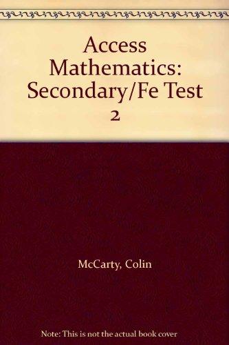 9780340958483: Access Mathematics Test 2 Form B Pk10 (Secondary/Fe)