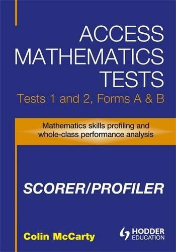 9780340958513: Access Mathematics Tests (AMT) 1 & 2 Scorer/Profiler CD-ROM