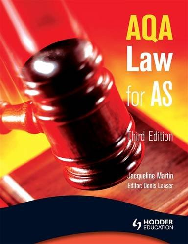 9780340965139: AQA Law for AS (A Level Law)